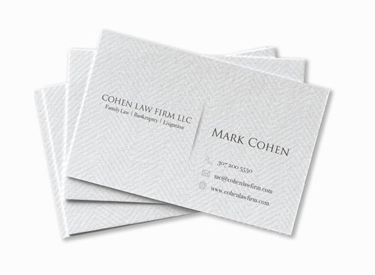 100 linen business cards 2 in x 35 in - Linen Business Cards